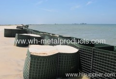 Emergency flood deployment wire mesh gabion