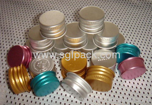 Aluminum lid 20mm screw cap different color different size cosmetic package
