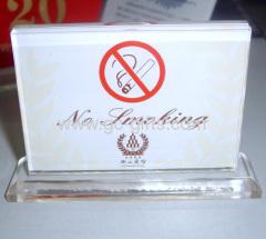 "Acrylic ""No Smoking"" Signages"