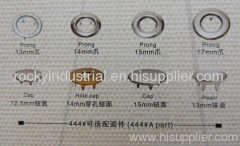 electroplated snap fastener button