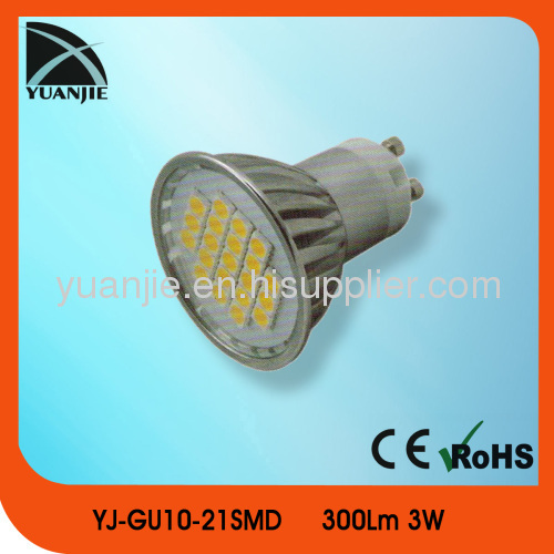 Popular gu10 cup lamp 3w gu10 led cup lamp gu10