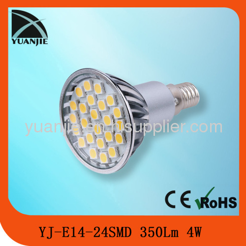 4W e14 led reflector cup