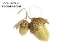 Cheap bronze bright painted gold powder Christmas decorative acorn