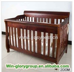 New design solid wooden baby crib
