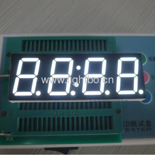Four-Digt 0.8 inch Common Anode Ultra White 7 segment led clock display