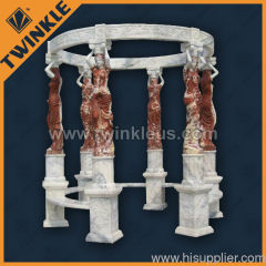 Decorative stone figure gazeboes