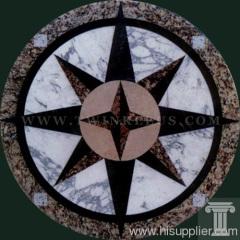 round floor carved medallion pattern