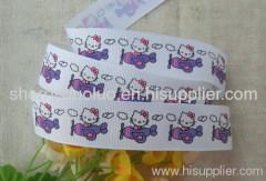 Polyester printing grosgrain ribbon