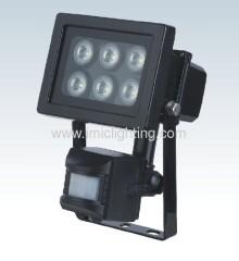 6W (6x1W) Aluminium LED Flood Light with PIR sensor