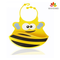 Newest design silicone baby bib
