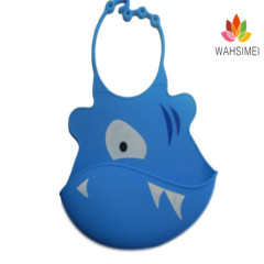Easy washable crumb food grade silicone bibs