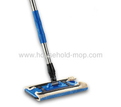 Microfiber Clip dust mop with steel handle