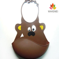 Easy washable ctue aninaml shape Silicone Baby Bibs For Lovely Baby