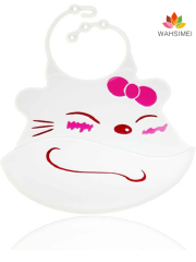 Factory direct with patent silicone baby bib with with food catcher
