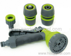 Plastic 8-function garden hose nozzle