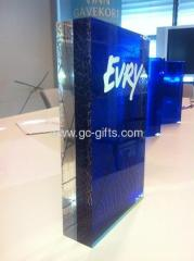 Thick acrylic trophy awards with printing