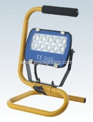 Portable 10W (10x1W) Aluminium LED Flood Light