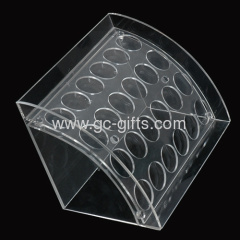 Countertop clear acrylic display boxes for blusher