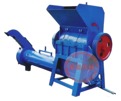 Plastic crushing machine for PET waste bottle