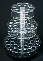 Floor clear acrylic drink display stands