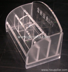 Custom acrylic microphone holders used in KTV