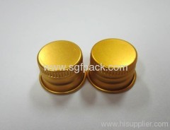 28/410 Aluminum cap cosmetic package aluminum lid gold color aluminum container