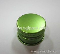 Closures of metal for containers aluminum cap 32mm aluminum container