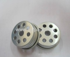 Seasoning bottle caps Sealing caps of metal Mesh cover 35mm aluminum cap