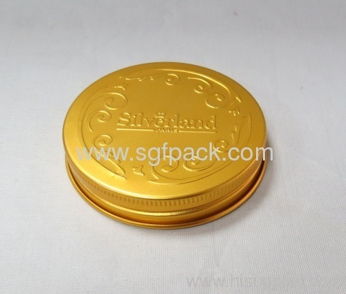 Metal aluminium cap Cream bottle caps Cosmetics bottle caps 68mm cap in any colors