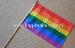 Custom Mini rainbow Hand flag