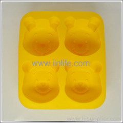 silicone pooh shaped muffin cupcake