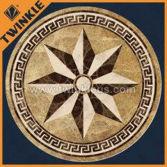 floor decoration stone medallion