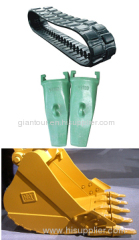 Excavator parts track tooth bucket