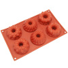 Freshware 6-Cavity Mini Fancy Bundt Cake Silicone Mold & Baking Pan