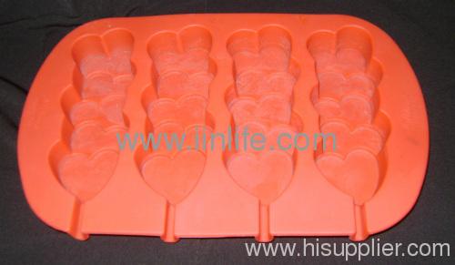FDA Silicone heart Baking
