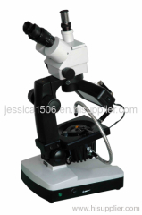 Jewelry / Gem Precision Microscope, Binocular / Trinocular Zoom Gemological Microscopes