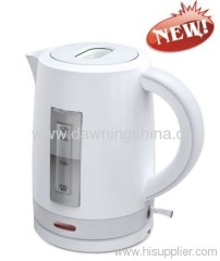 Electrial plastic kettle with water gauge