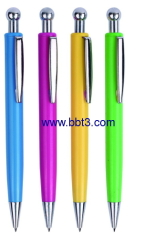 Promotional ballpoint pen with solid color barrel