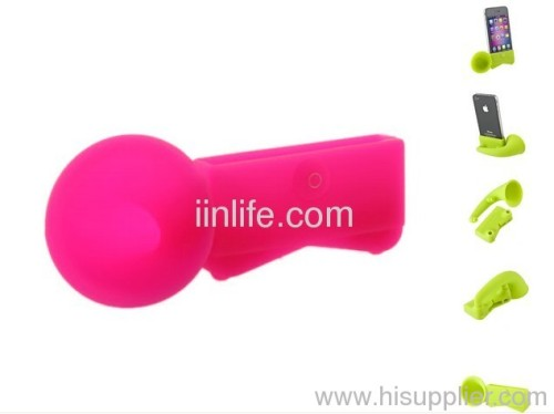 Colorful Silicone Horn Stand Amplifier Speaker