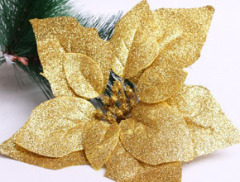 gold powder christmas flower