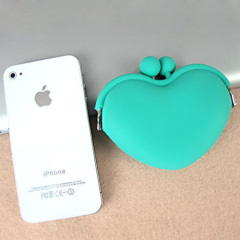 Colorful silicone wallet for silicone coin wallet