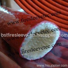 Firesleeve silicone coated fiberglass sleeve