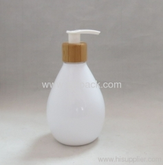 lotion pump plastic cap bamboo package