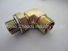 90°ELBOW BSP THREAD ADJUSTABLE STUD ENDS WITH O-RING SEALING