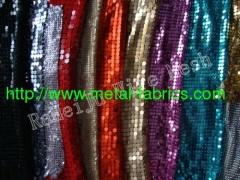 window treatment,sequin dots, sequin fabric, aluminum mesh
