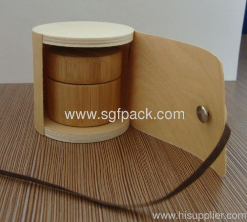 Wooden Jar Outer Package Tube Box Cream Jar Box Cosmetic