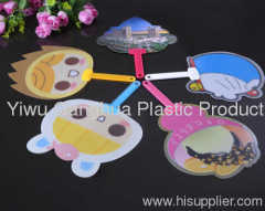 Plastic gifts PP fan with printing promotion gifts high qua