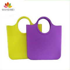 Colorful women's large silicone handbag for sale free