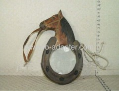 Wooden Carved Horse Magnifier