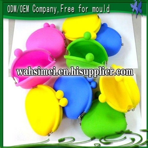 candy colors silicone coin bag for stylish lady